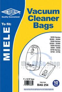 10 x MIELE Vacuum Cleaner Bags F, J & M Type S524, S526, S528, S534, S536, S538