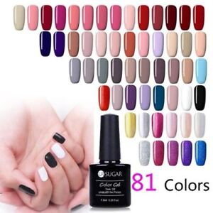 7-5ml-Soak-Off-Esmalte-Gel-UV-Nail-Art-barniz-gel-brillo-lentejuelas-Ur-Azucar