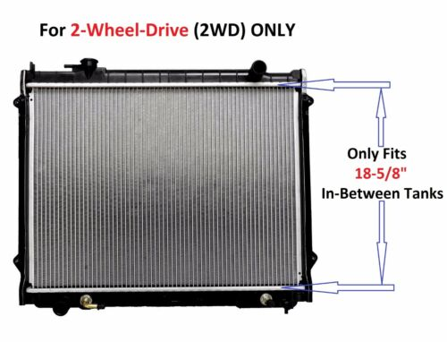 """RADIATOR 1778 w//18-5//8/"""" InBtwTks FIT 1995-2004 TOYOTA TACOMA 2.4 L4 2WD A//T ONLY"""