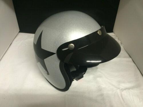 "gr. XXL Bandit Jet Helm Silber /""Star/"""