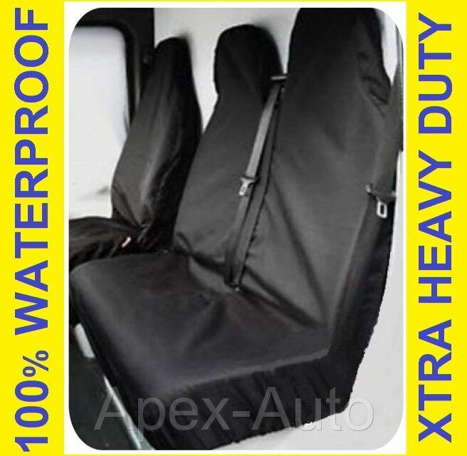 Grey Van Seat Covers 2+1 LWB MWB SWB 100/% WATERPROOF RENAULT TRAFIC 2010 ON