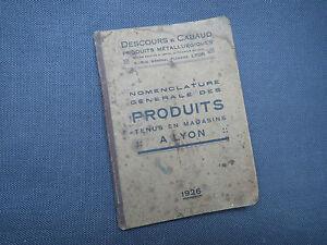 Antico-libretto-catalogo-Descours-amp-Cabaud-Lione-26-metallurgia-travetti-acciaio