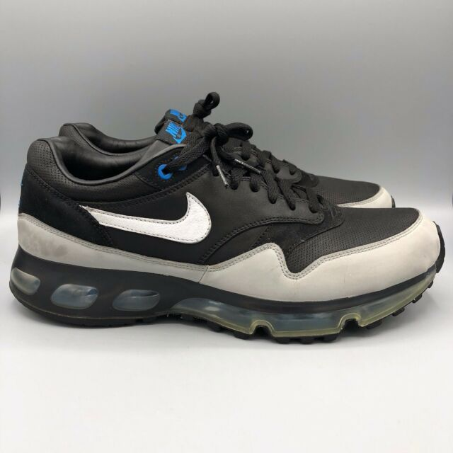 Nike Air Max 1 360 LE Black Leather Reflective 3M Silver Blue 11.5 318510 011