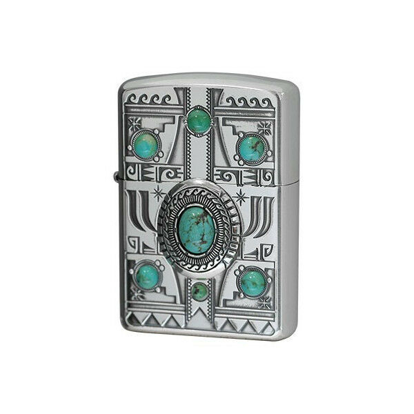 Zippo Lighter Indian Spirit Eagle With Turquoise Best Buy Gift From ...