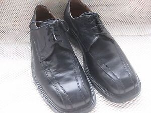 Skechers Men's Black Leather Upper Dress Shoes 11.5 M L@@K