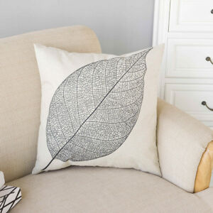 pillow case texture. Image Is Loading 2Pcs-Black-Leaves-Texture-Home-Decor-Cotton-Linen- Pillow Case Texture W