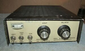 Vintage-PAL-ELECTRONICS-120-Ham-Radio-Mobile-Linear-Amplifier-12v-J178