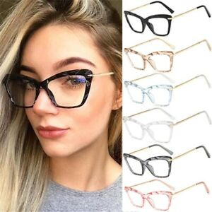 Cat-Eye-Lady-Eyeglasses-Optical-Glasses-Spectacle-Frame-Clear-Lens-Women-Eyewear