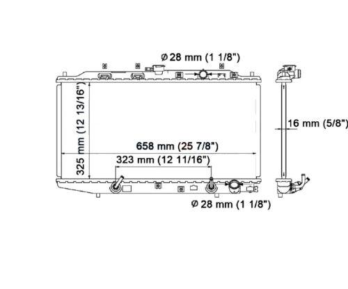 886 BESUTO Radiator fits Honda Civic /& CRX 1988-1991 1.5 1.6 L4