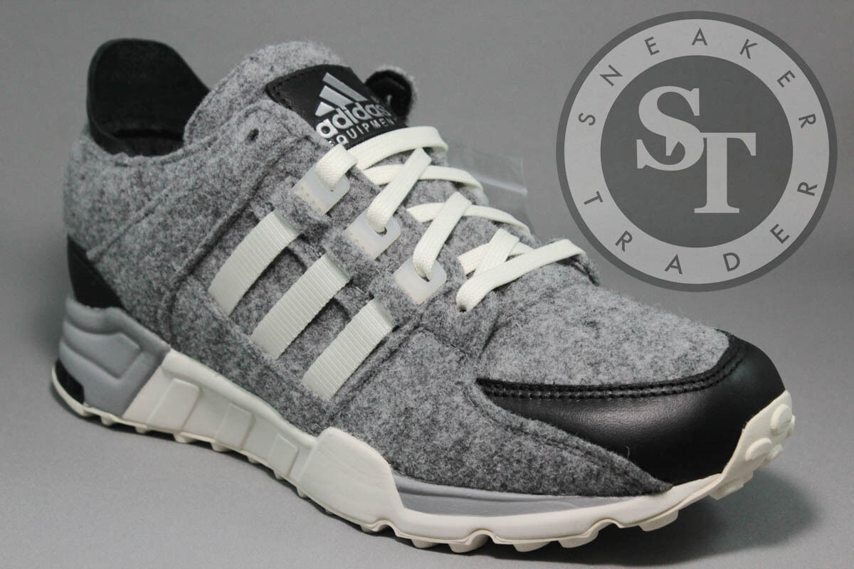 ADIDAS EQUIPMENT EQT RUNNING SUPPORT AQ8454 WOOL GREY CORE BLACK WHITE SZ: 10