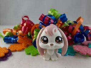 Littlest Pet Shop~#1746~Bunny Rabbit~Lop Ears~White Pink~Brown Dot Eyes