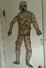 "BEISTLE 41""TALL-JOINTED HALLOWEEN🎃MUMMY👀VINTAGE STYLE DIECUT-GET YOURS-TODAY!"