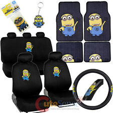Despicable Me Minions Car Seat Covers Auto Accessories Set with Carpet Mat
