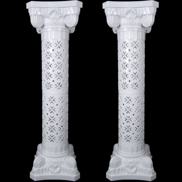 New Wedding Decorative Plastic Roman Column Height Adjustable Holds Flower Plate