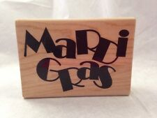 Stampabilities MARTI GRAS carnival celebration fat tuesday Rubber Stamp NO INK