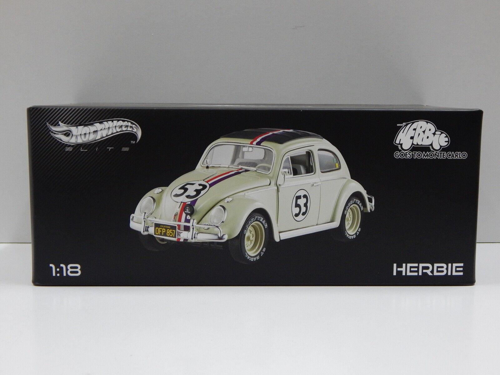 1 18 Volkswagen - Herbie Goes To Monte Carlo Hot Wheels Elite BLY22