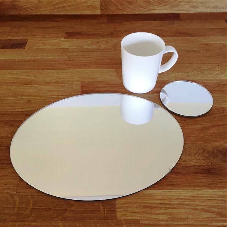 Ovale Set de table et rond Ensemble de Dessous De Verre - copié