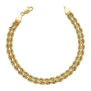 Woven Rope Chain Bracelet in 14K Gold, 7.25
