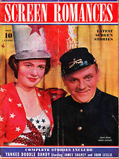 SCREEN ROMANCES 05/1942 JOAN LESLIE & JAMES CAGNEY Michele Morgan ANN SHERIDAN