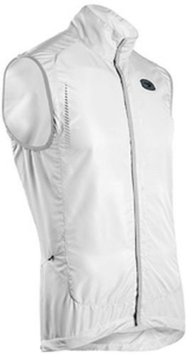 SUGOI RS Versa Vest Mens Large White Cycling Run Reflective Pro Fit Magnet Close