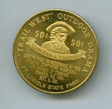 1861-1961 Gen Custer Bismarck, Dakota Territory Centennial Medal ROTATED, GF 50C