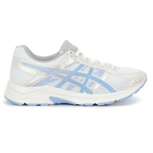 Asics-Women-039-s-GEL-Contend-4-White-Blue-Bell-Running-Shoes-T765N-100-NEW