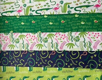 112cm Everglades Lily Pads Foliage Pond Swamp Kids Cotton Fabric Width Approx