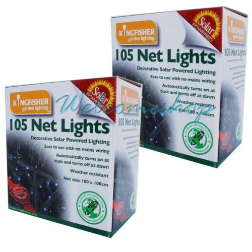 2 x 105 LED OUTDOOR SOLAR POWER NET BLANKET CHRISTMAS TREE FAIRY LIGHTS SLNET1