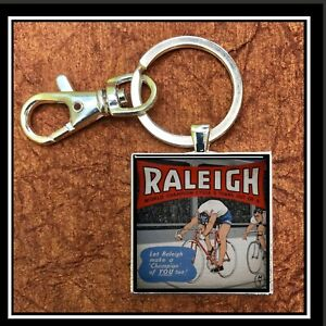Vintage-Raleigh-Bicycle-Ad-Photo-Keychain-Gift-Free-Shipping-Cyber-Monday-Bike