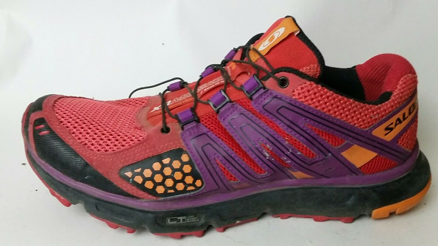 Salomon XR Mission 1 Womens 8 Med shoes Sneakers Red orange Purple Trail Running
