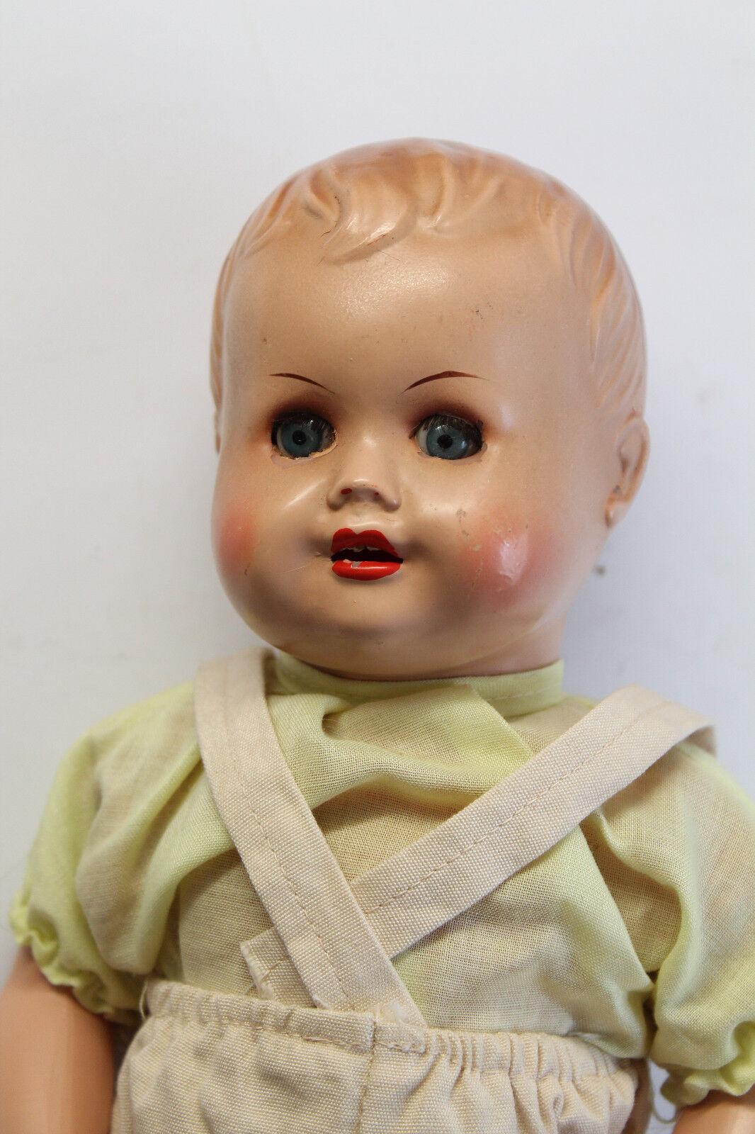 Antike Puppe Arthur Schönau Sonneberg ASS um 1930/40 mit Stimme 33 cm xz