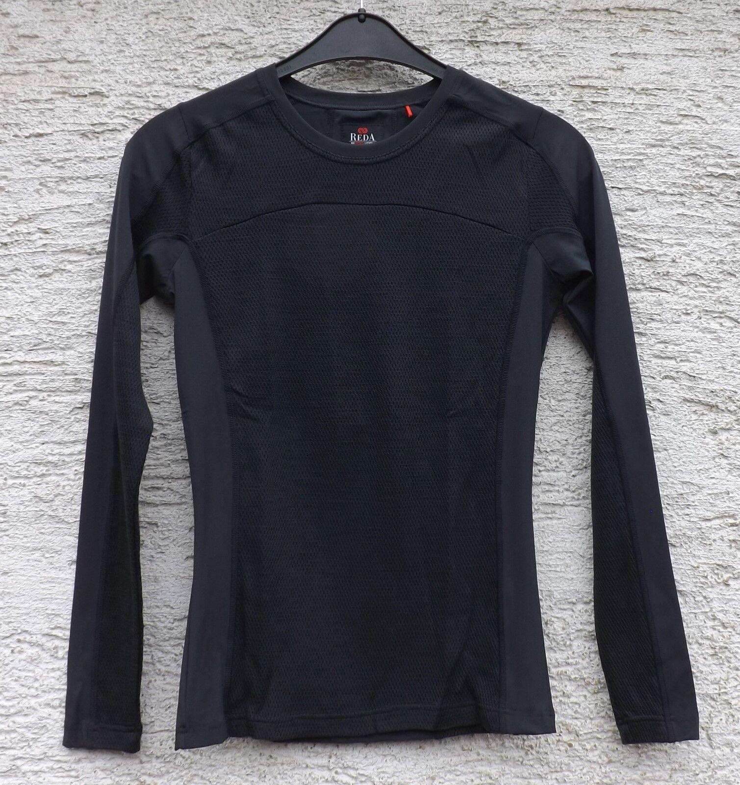 rojoA Rewoolution Altair para hombre malla sensible camisa de manga larga de lana Merino