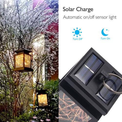 1-10X Waterproof Outdoor Solar Lantern Hanging Light LED Yard Patio Garden Lamp