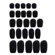 10pcs  Black Microphone Headset Foam Sponge Windscreen Mic Cover 6 Sizes