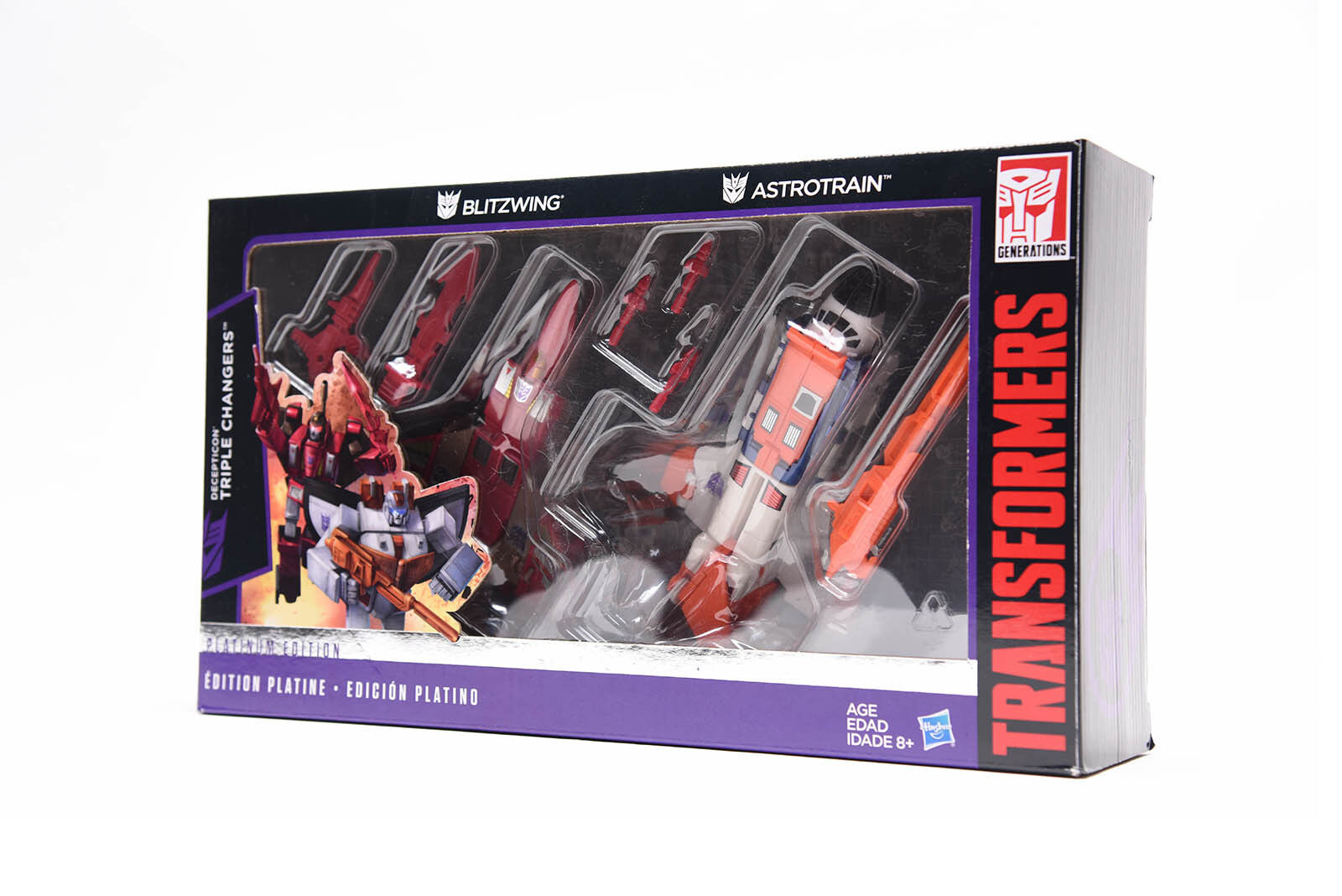 Transformers Hasbro G1 Reissue Platinum Edition Astredrain Blitzwing NEW
