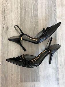 Leather 4 450 Chloe Woman Sold Kitten 37 Rrp Uk Black Out Heels Stiletto High wqXq6zZ