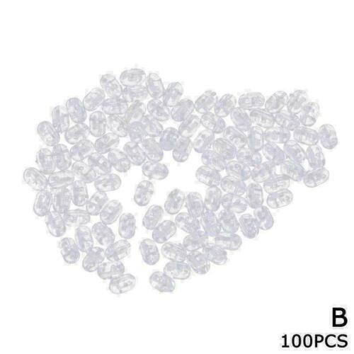 100 Stück Fischerei Perlen Kunststoff Oval Köder locken-Double Pearl Drill M5W3
