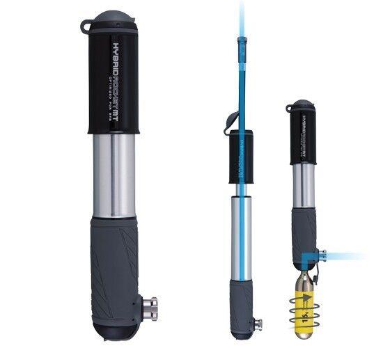 Topeak hybrid rocket mt con co2 optin, bicicleta bomba mini compacto MTB, hasta 6 bar