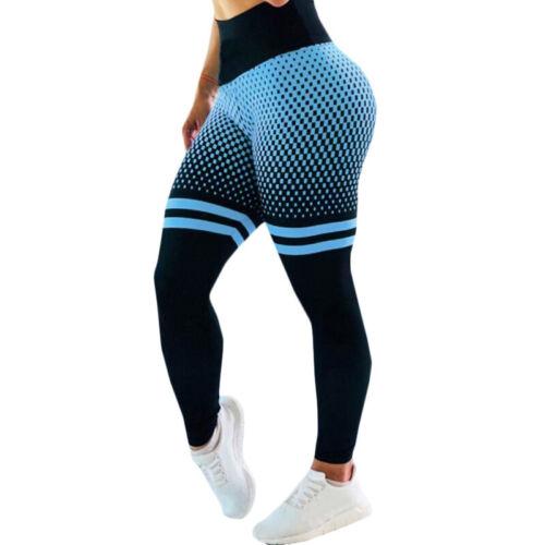 Womens High Waist Gym Leggings Fitness Push Up Sports Running Train Yoga Pants