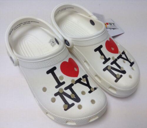 CLOSEOUT Crocs I Love New York Classic Clog White Unisex Size M10//W12 M11 M13