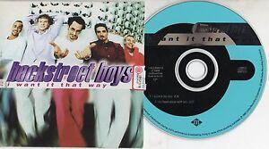 BACKSTREET-BOYS-raro-CD-single-I-WANT-IT-THAT-WAY-1999-2-tracce-CARDSLEEVE