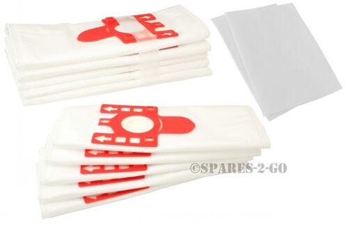 10 Sacchetti per aspirapolvere Miele s291 s313i s326i S348 S348i S381 S4280 FJM e 2 filtri