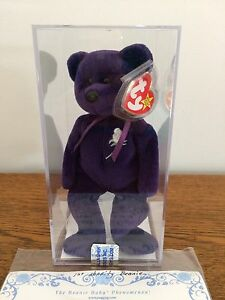 1429643cebc Image is loading Authenticated-1st-Charity-Princess-Diana-Beanie-Baby-MWMT-