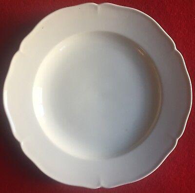 Antique 19th century KPM Berlin Porcelain Blanc de Chine White Plate Dish