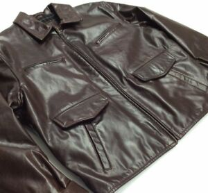 Ermenegildo Zegna Rigid Leather Jacket Police Detective