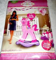 Amscan Baby Girl Pink Rocking Horse - Giant Refillable Foil Gliding Balloon