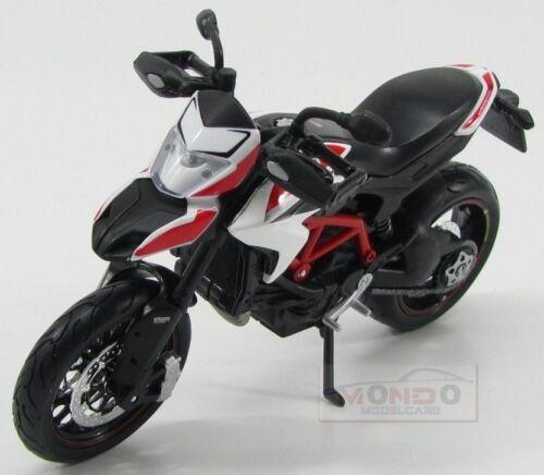 Ducati Hypermotard 1100S 2013 White Red Maisto 1:12 MI13015WR