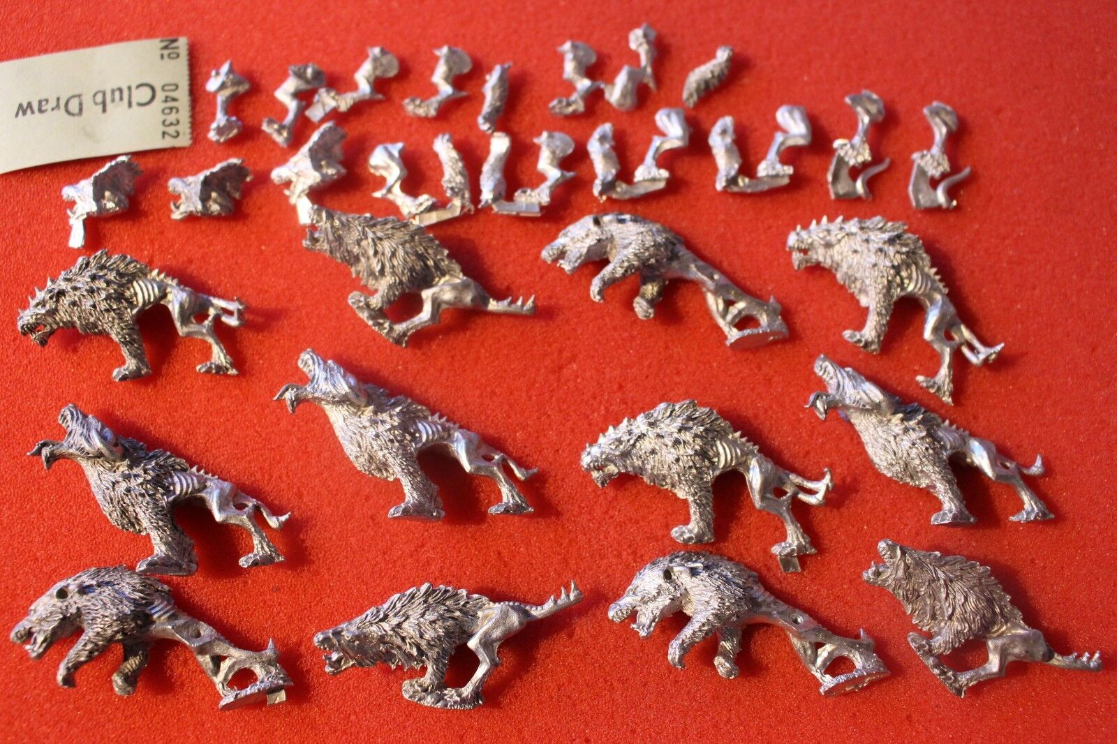 Games Workshop Warhammer Chaos Hounds fleshounds  metal figures x2 fantasy loups  marque