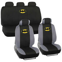 Official Batman Seat Covers For Car & Suv - Front & Rear Full Set Original Logo on sale