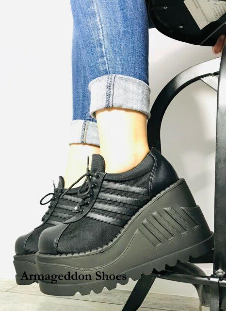 0c3ed5922cb Demonia Women s Stomp-08 Platform Goth Punk Cyber Gogo Lace up Shoes ...